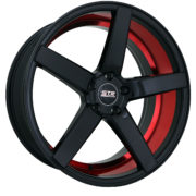 STR 607 GLOSS BLACK WITH RED IN LIP